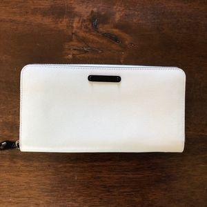 Rebecca Minkoff White Pebble Leather Wallet